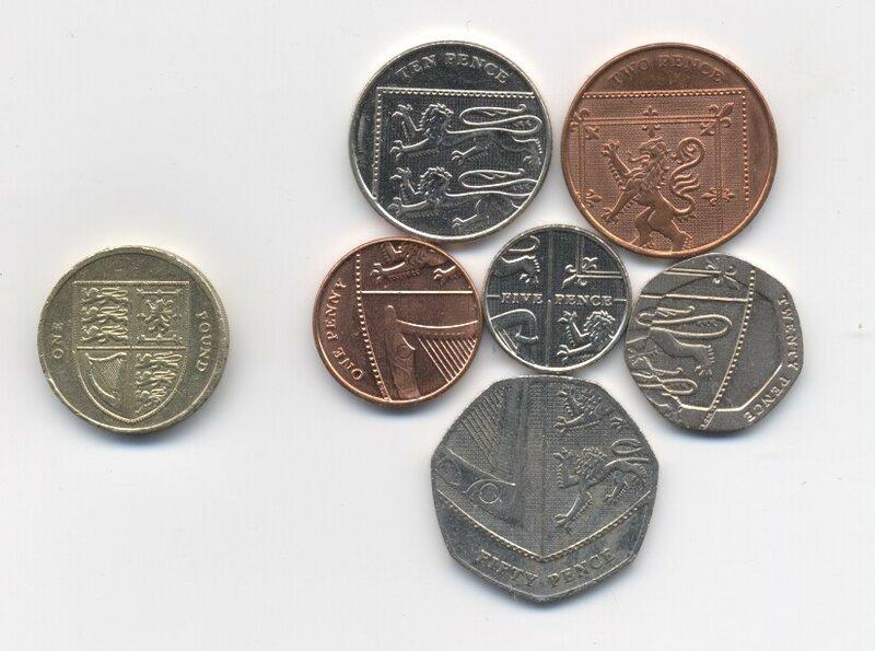 Сколько пенсов в 1 фунте монеты германии с ценой