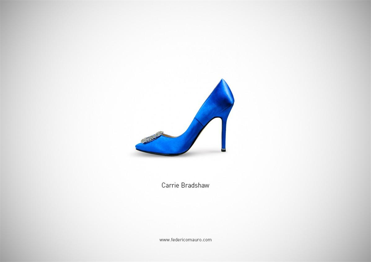 Знаменитая обувь культовых персонажей / Famous Shoes by Federico Mauro - Carrie Bradshaw