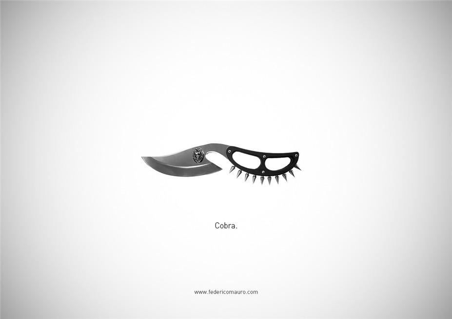 Знаменитые клинки, ножи и тесаки культовых персонажей / Famous Blades by Federico Mauro - Cobra