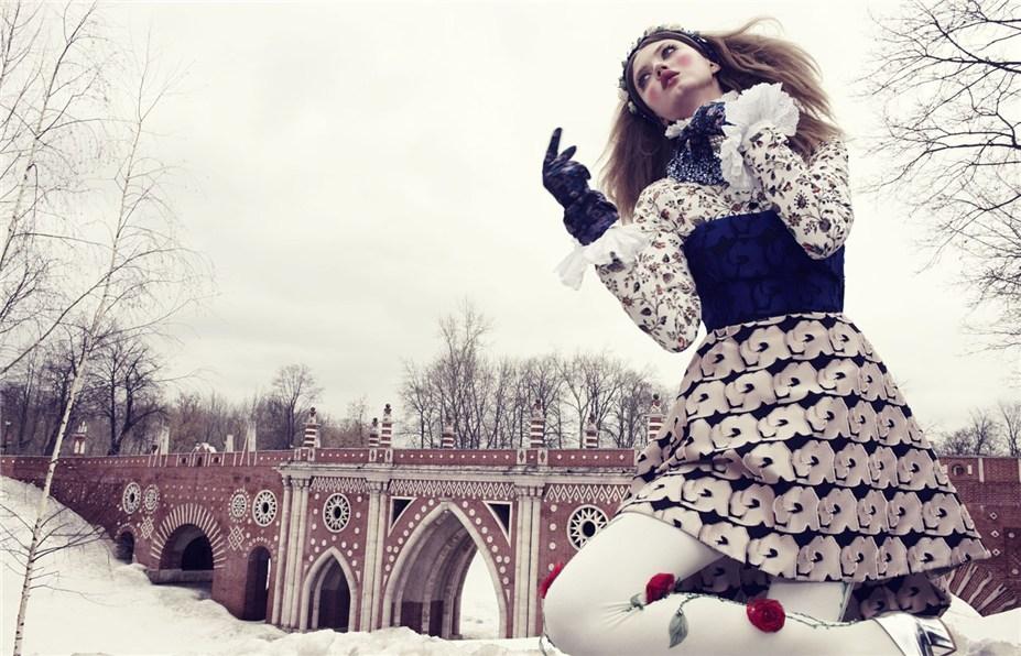 Линдси Виксон / Lindsey Wixson by Emma Summerton in Vogue Japan december 2013 - The Anastasia of Winter