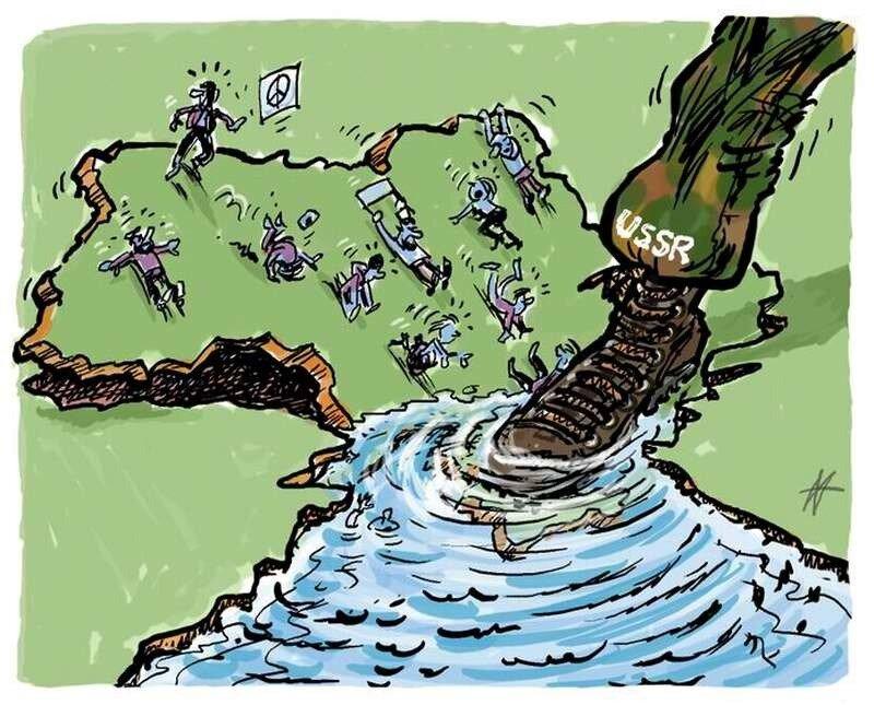 Российская поступь: Вся Украина накренилась в сторону Крыма (Maarten Wolterink)