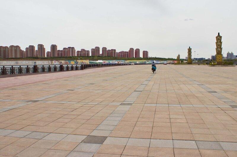 набережная города Ордос, Внутренняя Монголия, Китай