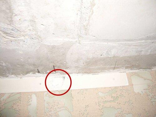 Фото 10. Диагностическое вскрытие стены.  Второй ракурс.
