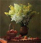 C персиками и красной смородиной Автор Tatyana_SK