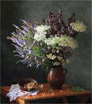 С ягодами и луговыми цветами Автор Tatyana_SK