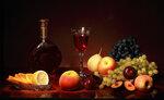 Вино и фрукты Автор Tatyana_SK