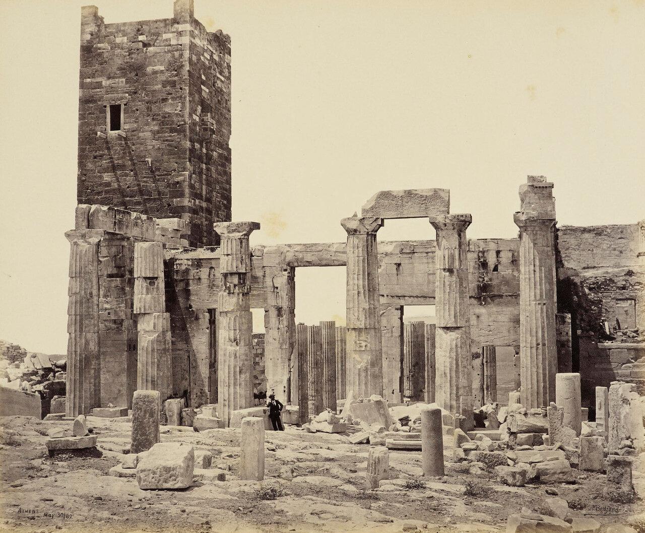 30 мая 1862. Пропилеи.вход на Акрополь, Афины