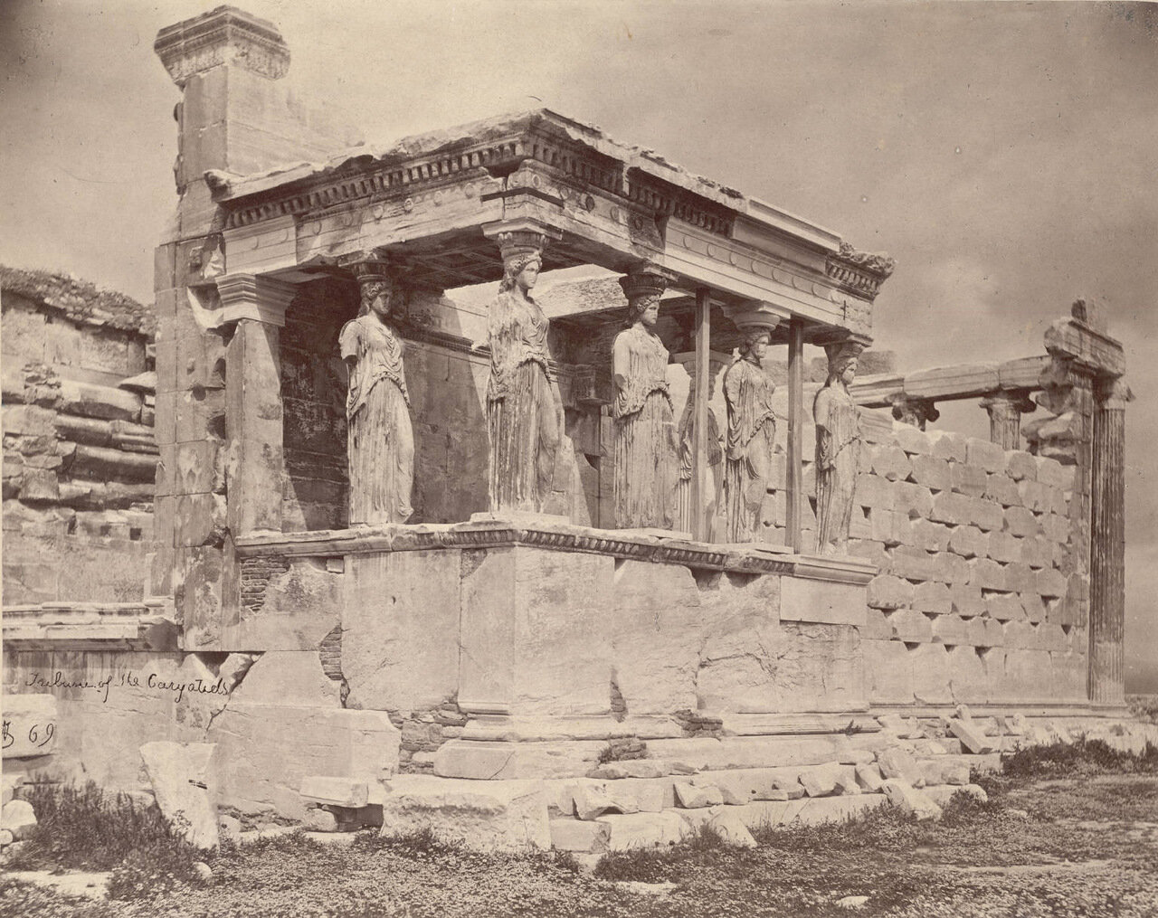 Эрехтейон.  Портик кариатид. 1869