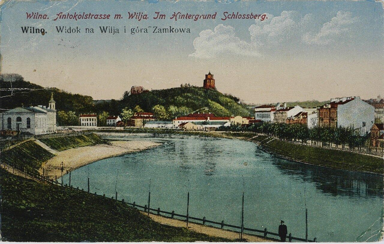 Вид на Вильну и Замковую гору