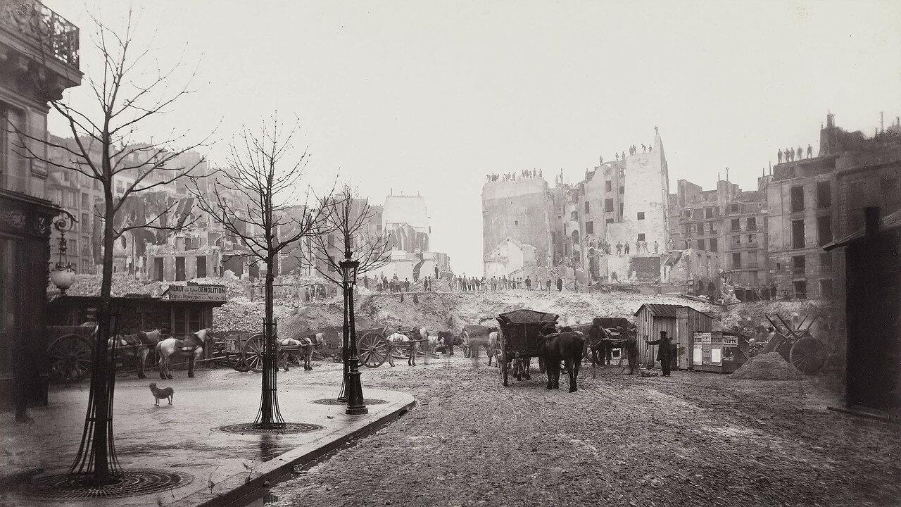 1872-1882. Пробивание авеню Оперы: Монмартский холм, урезывание рю Сент-Оноре