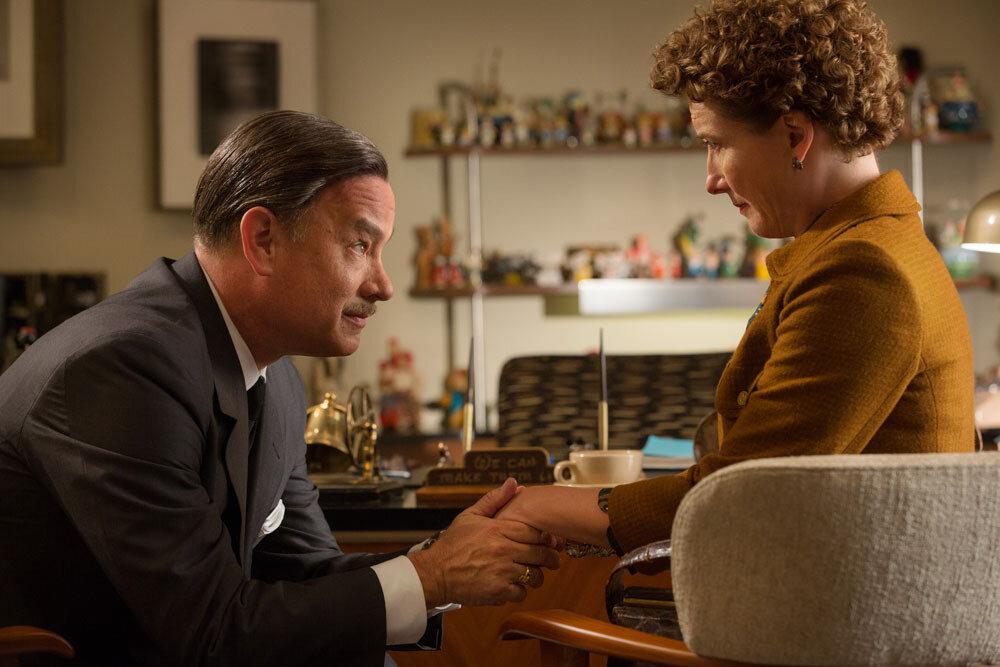 """SAVING MR. BANKS""Walt Disney (Tom Hanks), left, and P.L. Travers (Emma Thompson), right, in Disney's ""Saving Mr. Banks,""releasing in U.S. theaters limited on December 13, 2013 and wide on December 20, 2013.Ph: François Duhamel©Disney Enterpr"