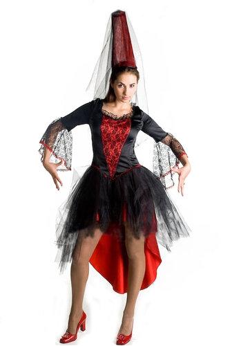 Женский карнавальный костюм Колдунья