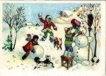 Открытка поздравление Лепим снег фото картинка
