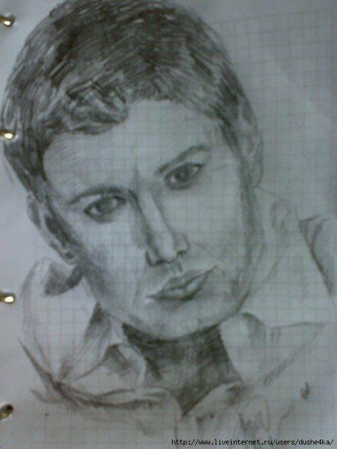 Портрет Дина Винчестера Карандашом (Franco Clun)