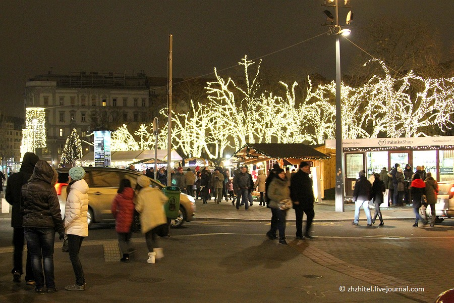 Рождественские ярмарки в Будапеште