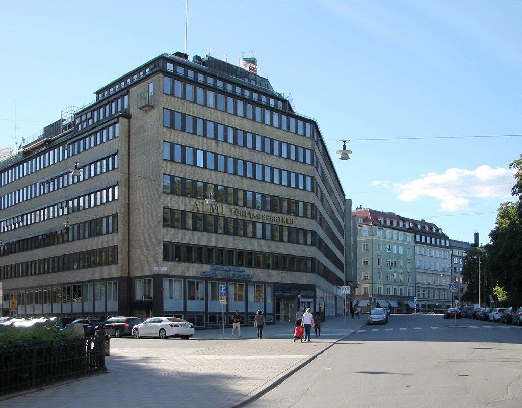 Stockholm, Drottninggatan. Стокгольм, Дроттинггатан