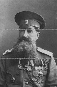 Генерал-майор в отставке, бывший офицер бригады, в кителе (портрет).