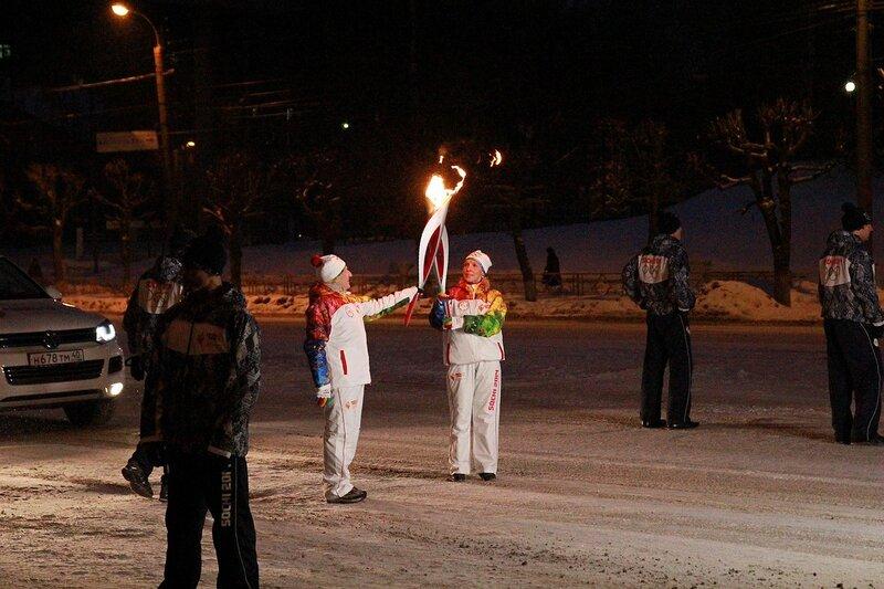 Эстафета олимпийского огня в Кирове