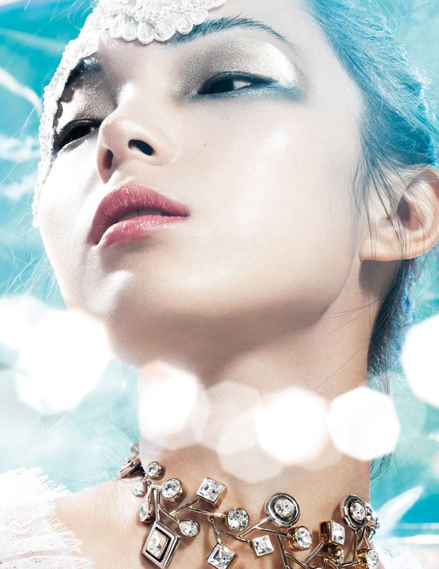 Winter Sparkles: Xiao Wen Ju Stars in Vogue China December 2016 Issue