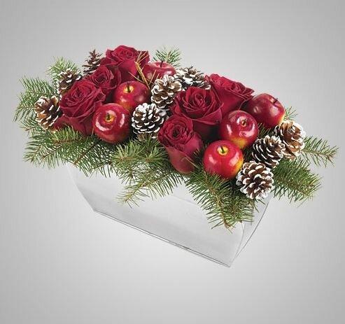 Новогодние цветочные композиции