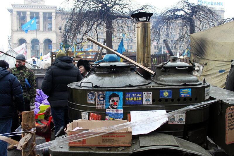 Полевая кухня на Майдане
