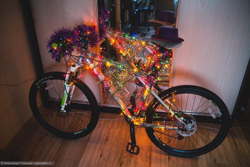 Новогодняя ёлка - велосипед