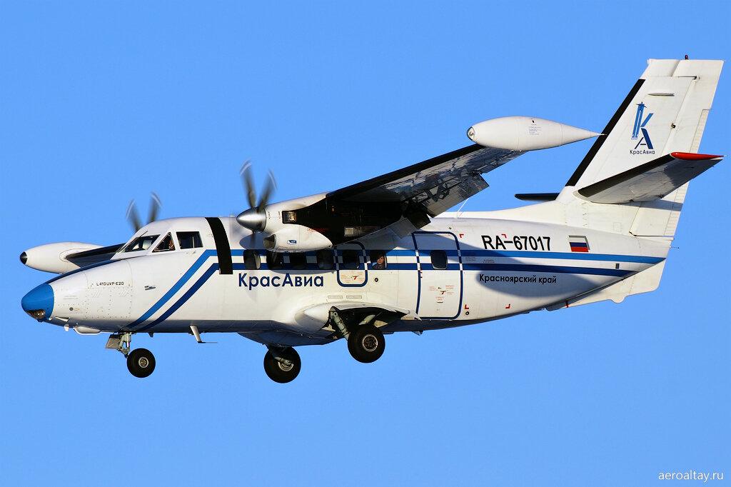 Л-410 компании Красавиа прилетел из Красноярска в аэропорт Горно-Алтайска