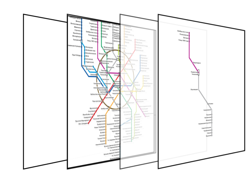 Слои, формирующие карту метро