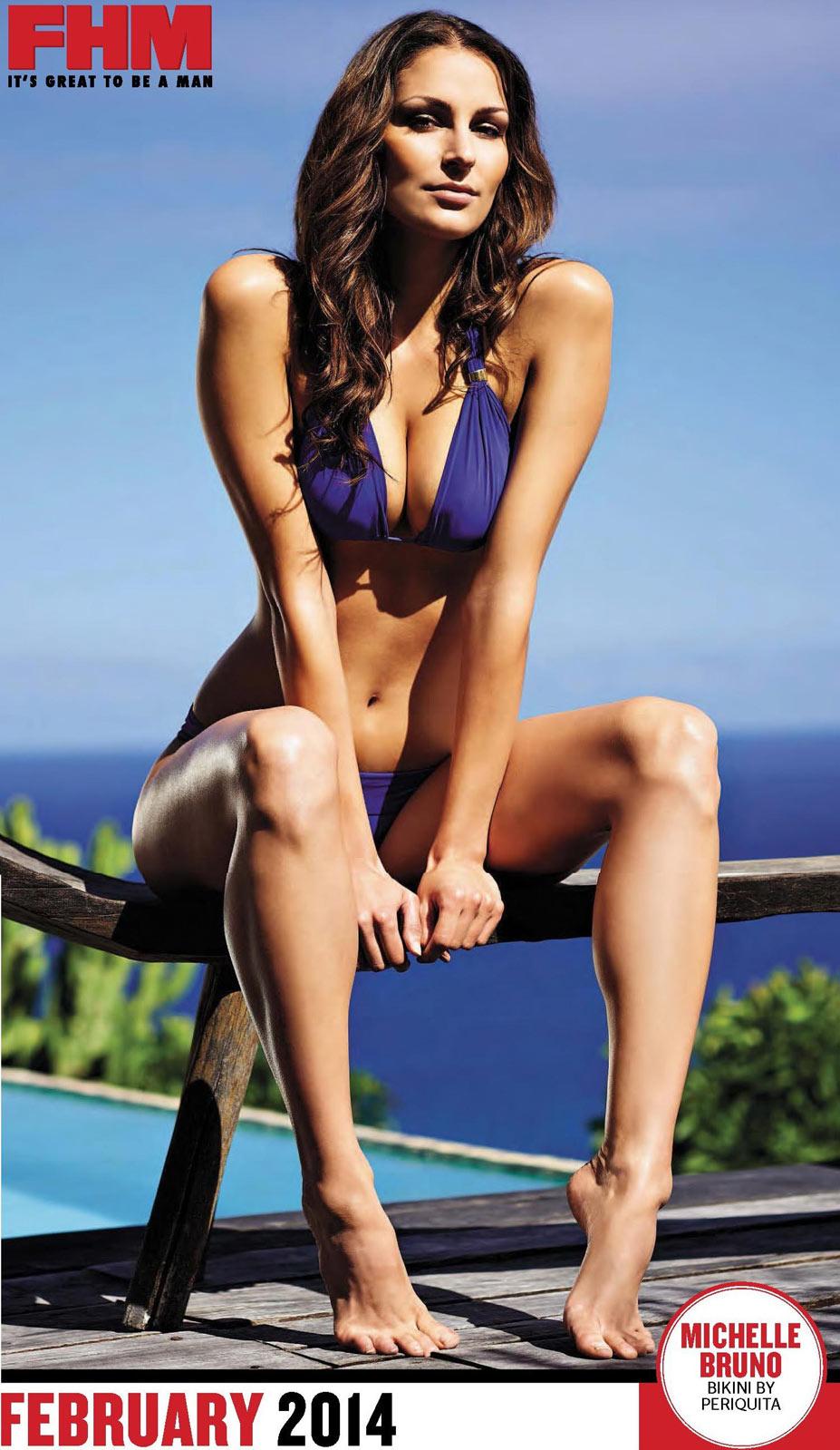 Сексуальные девушки в календаре журнала FHM South Africa 2014 - Michelle Bruno