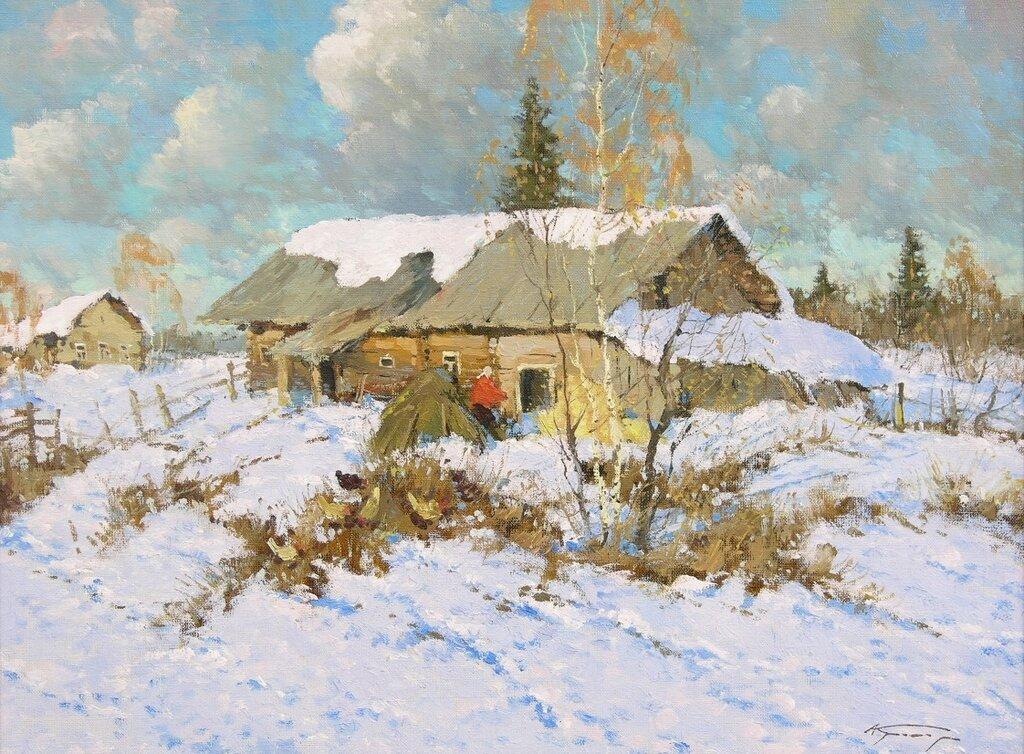 Кремер Александр Маркович. Русская деревня.
