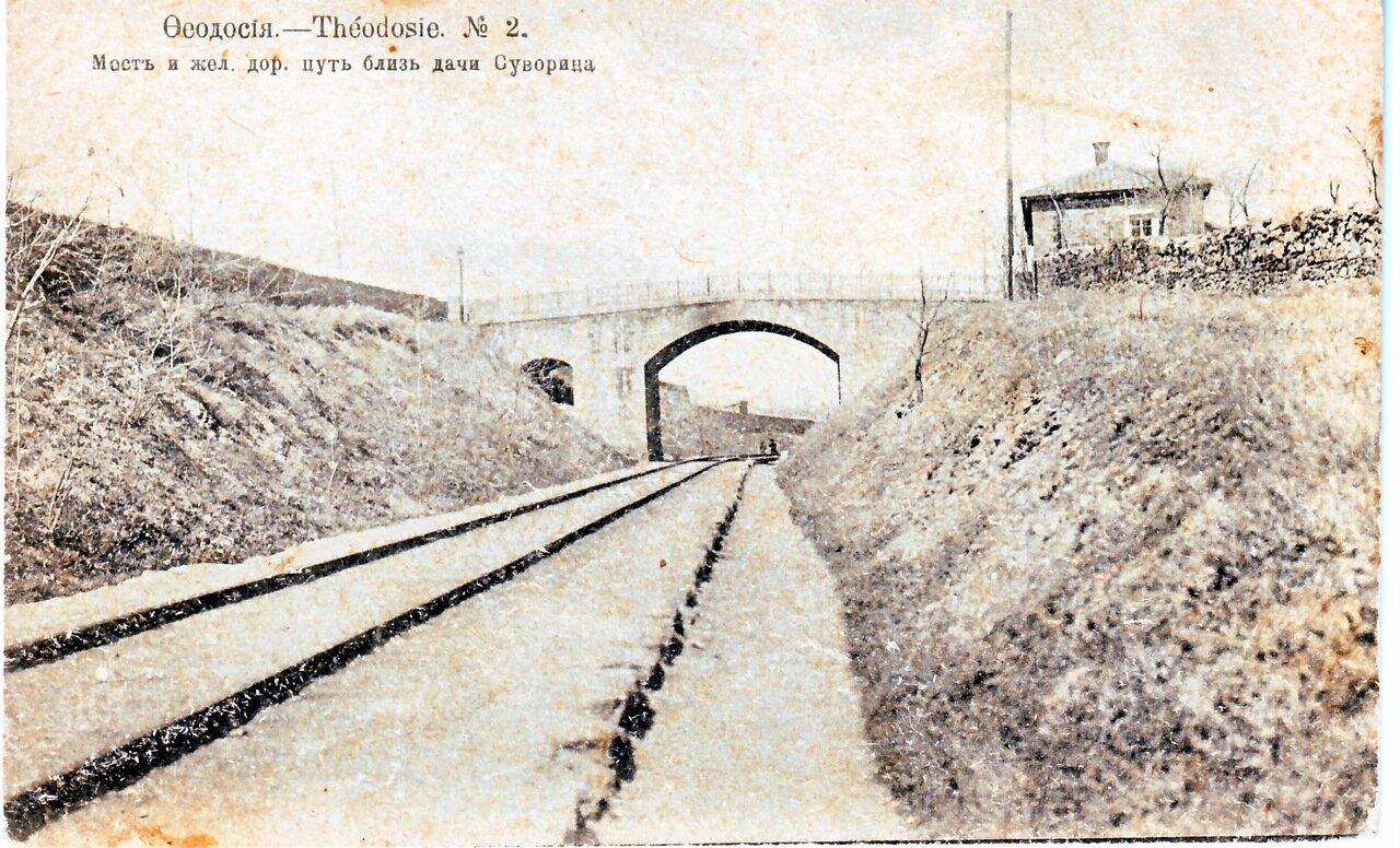 Мост и железнодорожный путь близ дачи Суворина