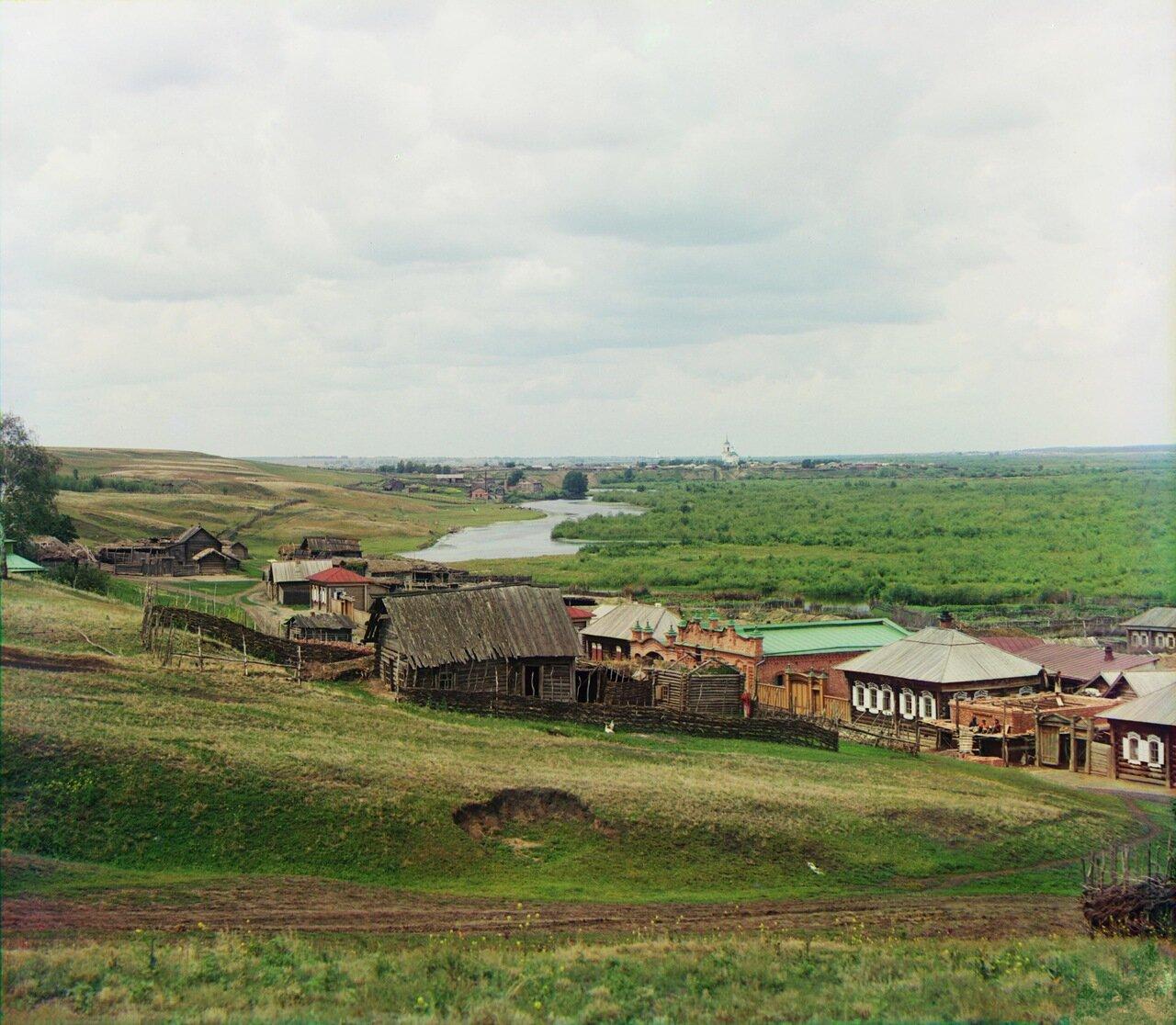 Долина р. Исети около Шадринска с Тумановской горы. 1912