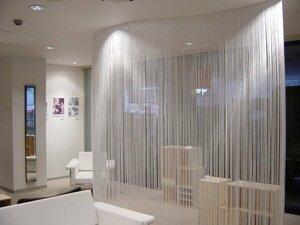 Идеи для интерьера — перегородки из ткани