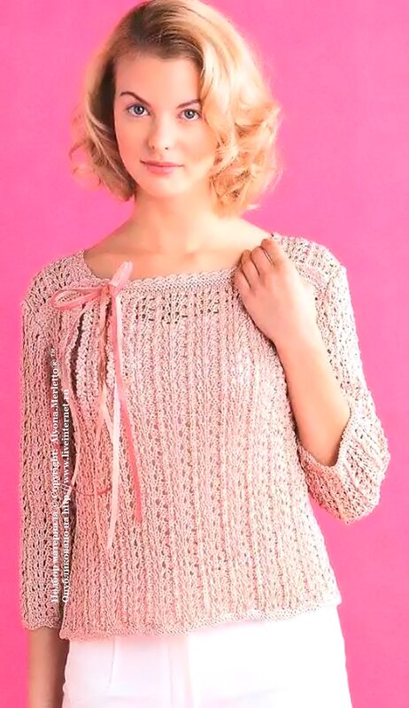Вязание из розовой пряжи 29