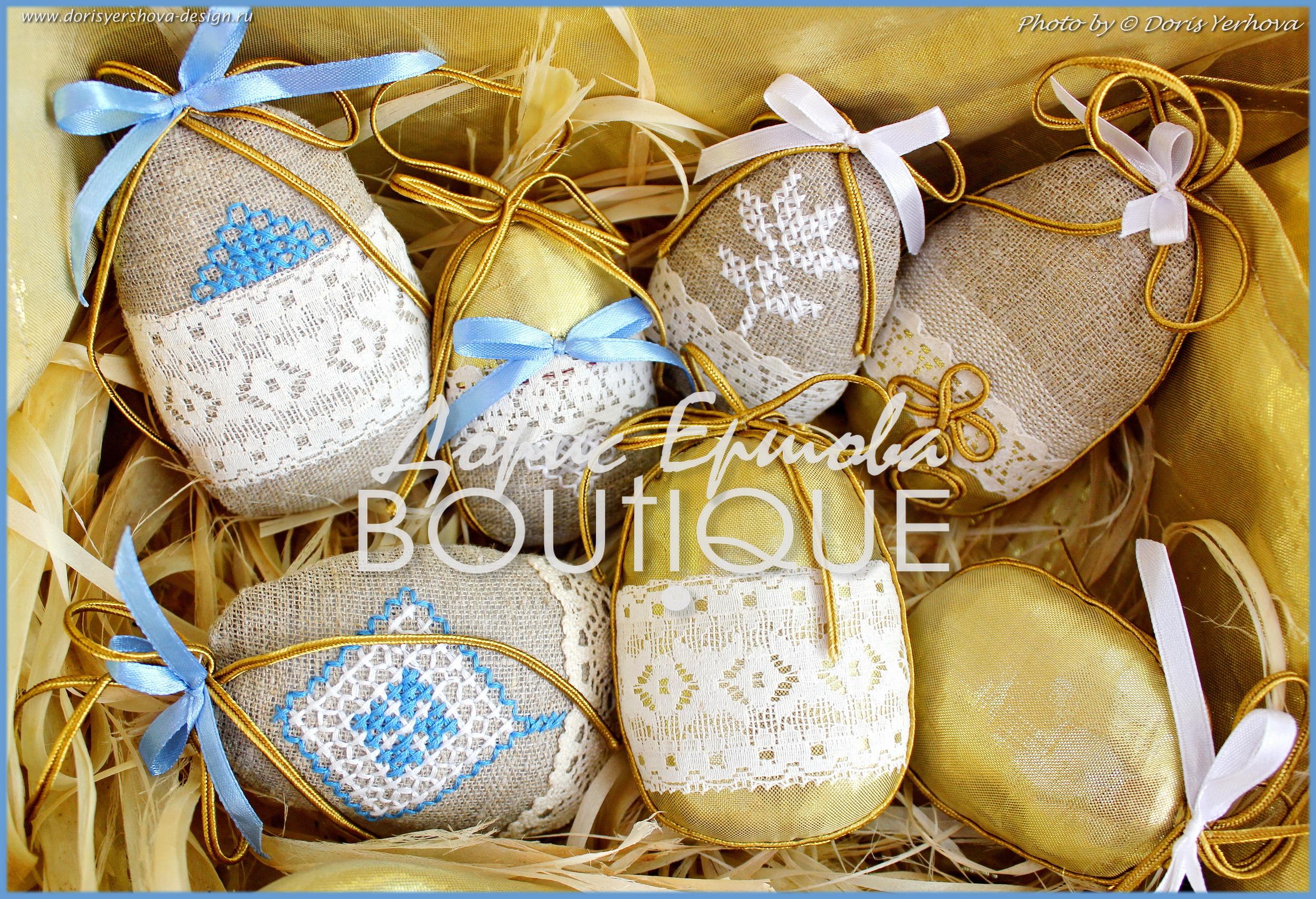 Декоративные яйца для декора к Пасхе. Дизайн & Исполнение - © Дорис Ершова