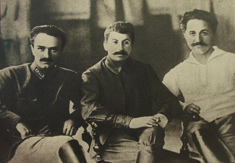 А.И. Микоян, И.В. Сталин, Г.К. Орджоникидзе, 1926 г.