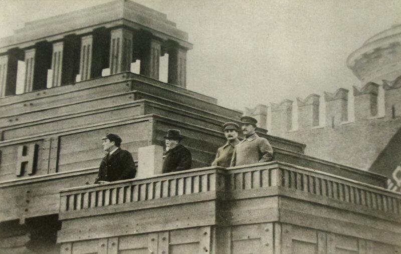 Куйбышев, Калинин, Сталин, Орджоникидзе, 1927 г.