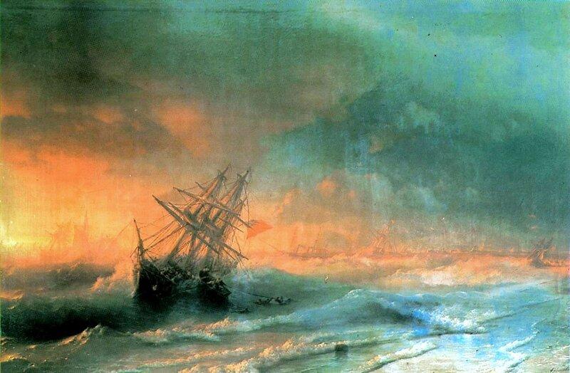 Буря над Евпаторией, Айвазовский Иван Константинович, картины