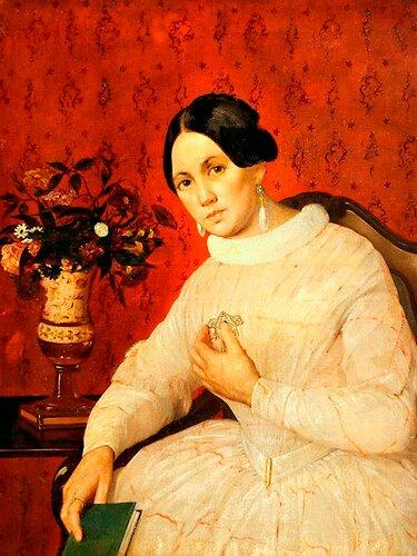 Хруцкий, Иван Фомич (Трофимович)Портрет неизвестной в белом платье.jpg