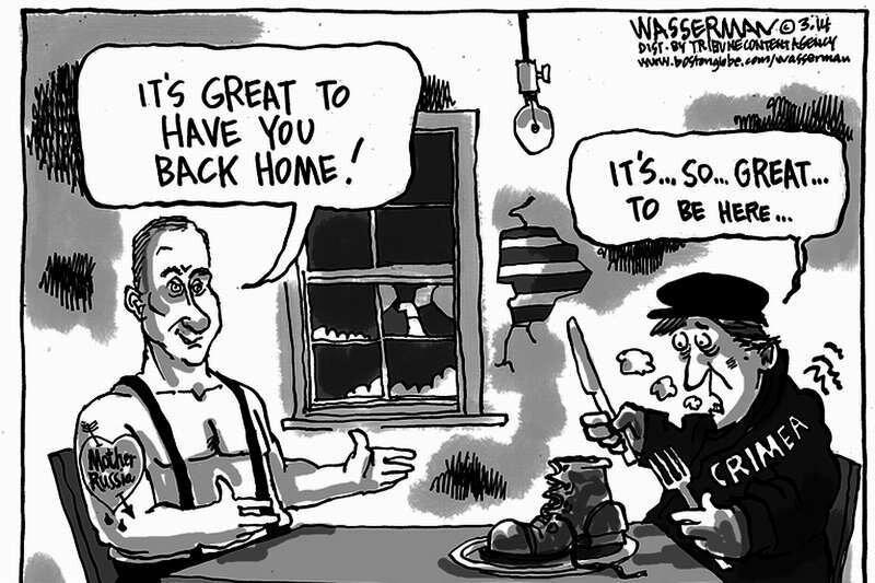 Путин Крыму: Как хорошо, что ты вернулся домой (Dan Wasserman)