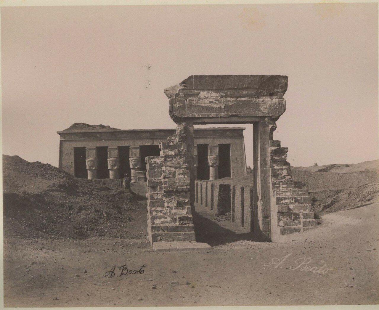 1870-е. Храм Хатхор с воротами Траяна