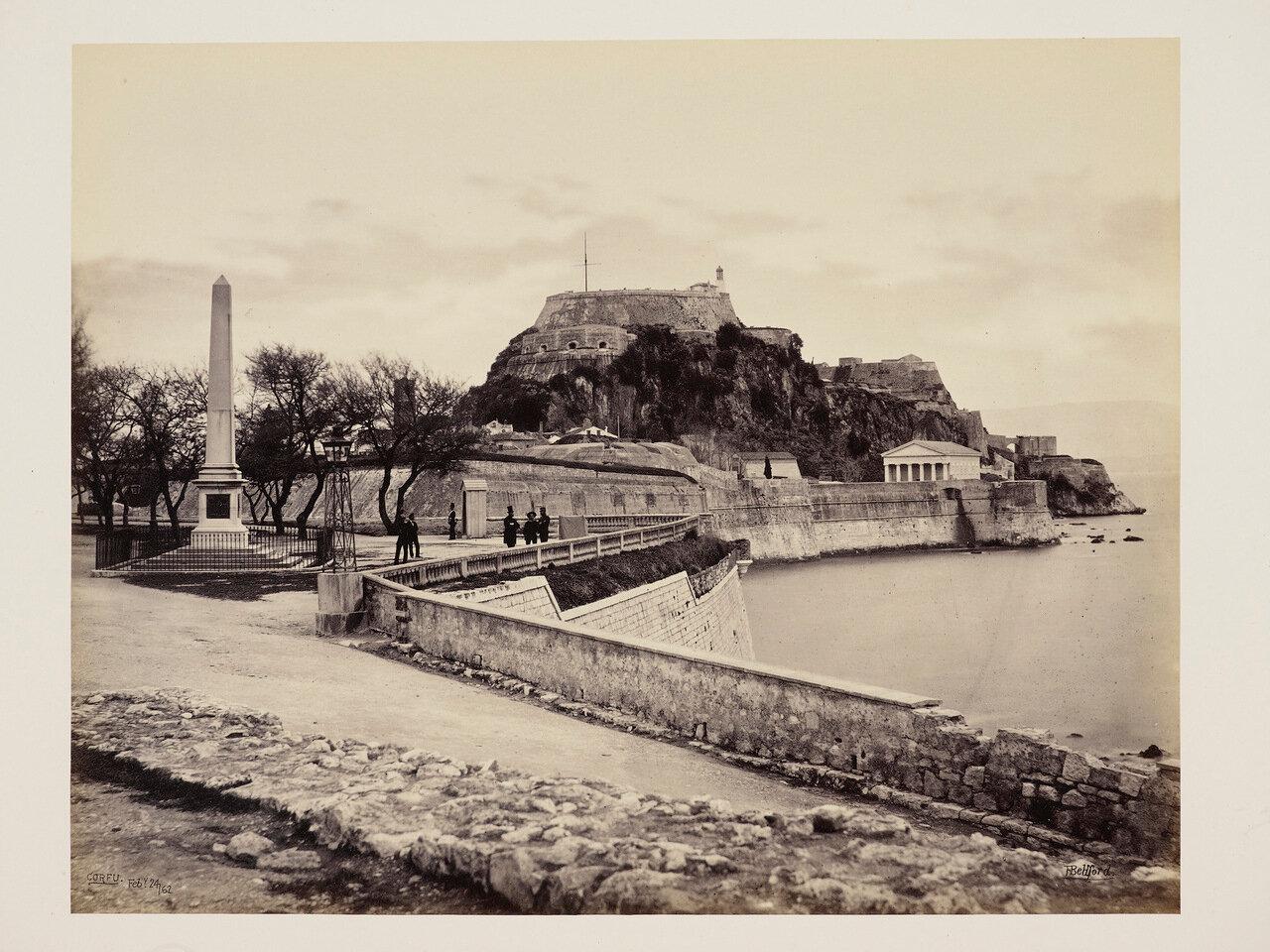 24 февраля 1852. Цитадель. Англиканская церковь и обелиск сэра Говарда Дугласа. Корфу