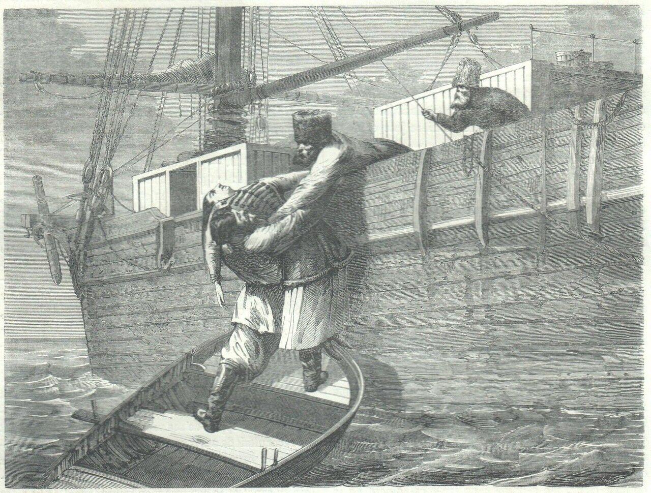 1862. Сибирь. Спасение из ледяного моря