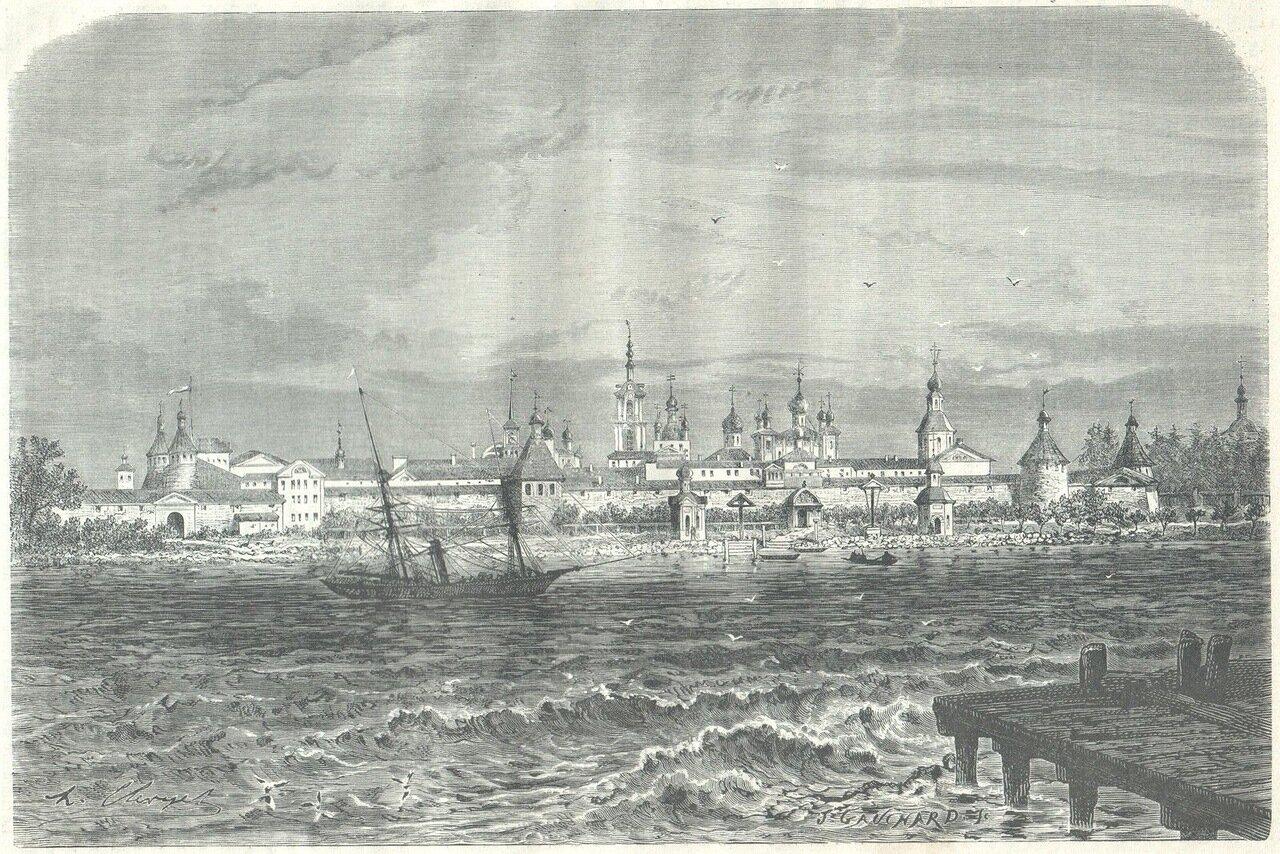 1872. Соловецкий монастырь с моря