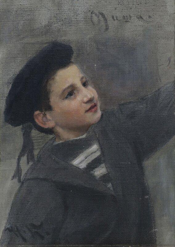 Портрет Миши 1891, Кузнецов Николай Дмитриевич(1850-1929)
