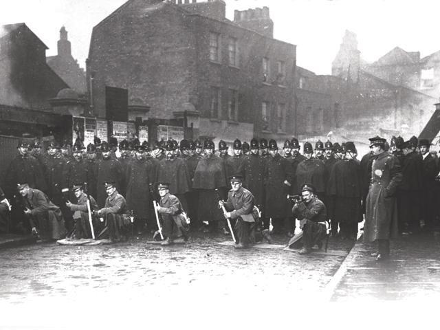 Siege of Sidney Street in January 1911.