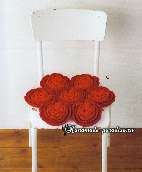 Схемы вязания крючком сидушек и ковриков (11)