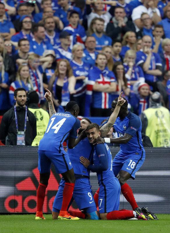 Чемпионат Европы. Франция - Исландия