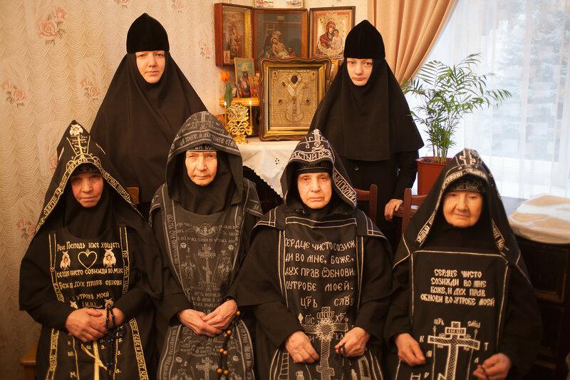 Матушки подворья в богадельне Святогорской Лавры. 23 февраля 2008 г.
