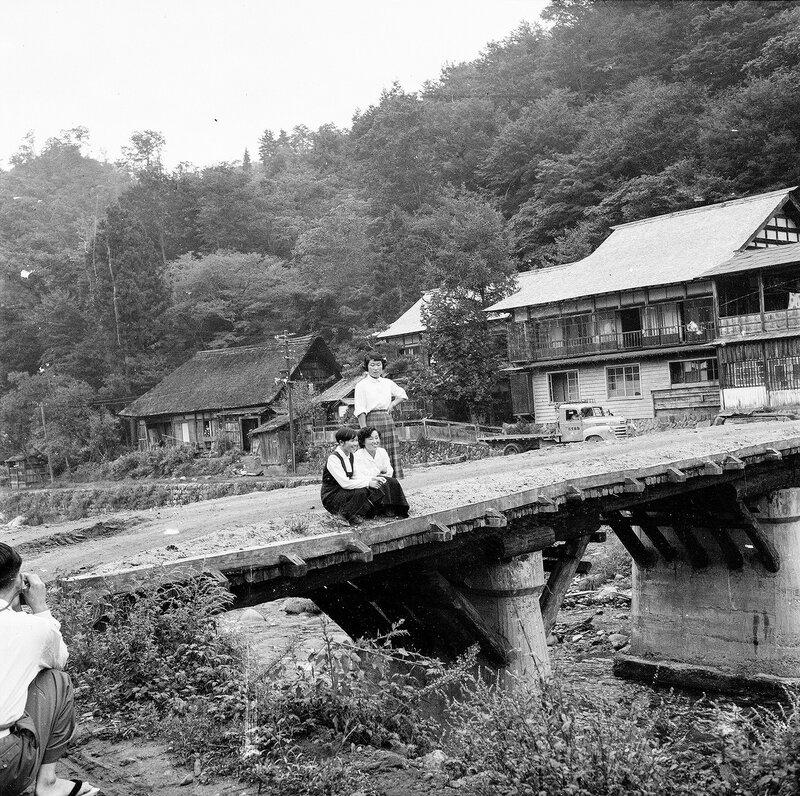 3 Women on a Bridge - 1950s Japan